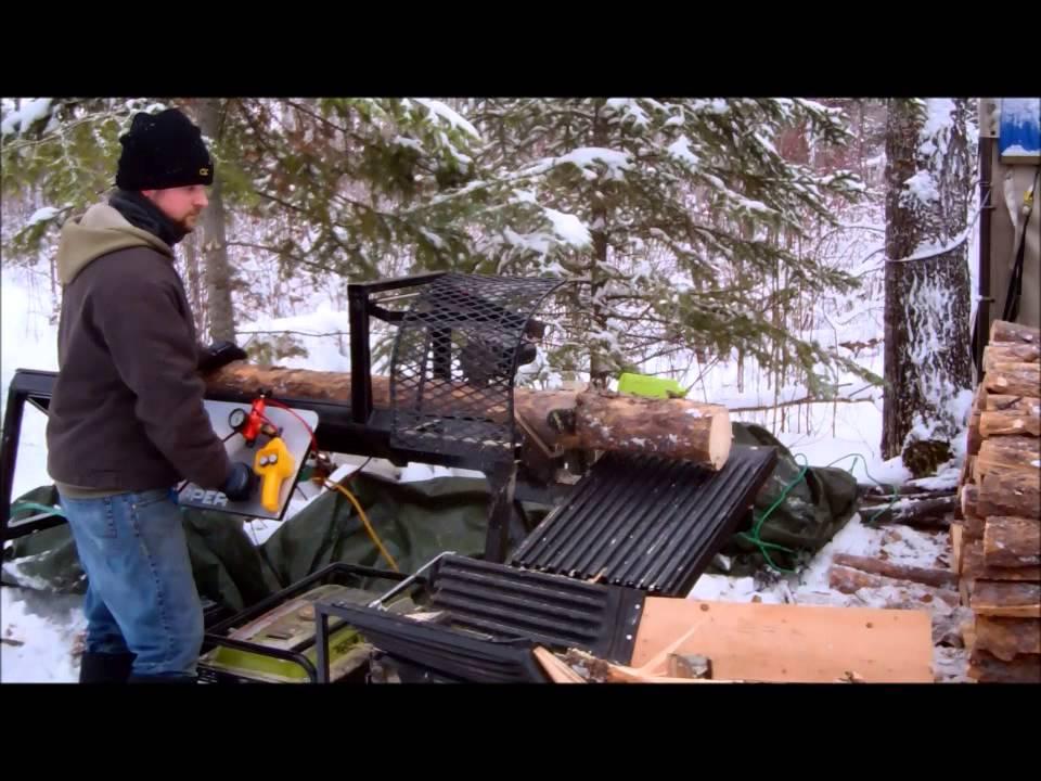Custom Fabricated Homemade Firewood Processor Cheap And