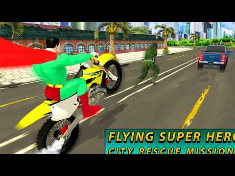 Flying Super Hero City Rescue Missions