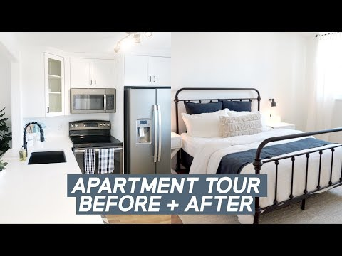 RENOVATED APARTMENT TOUR BEFORE AND AFTER