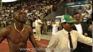 Moses Kiptanui,  Merlin Ottey at the 'International Track and Field' meet during Pune festival, 1994