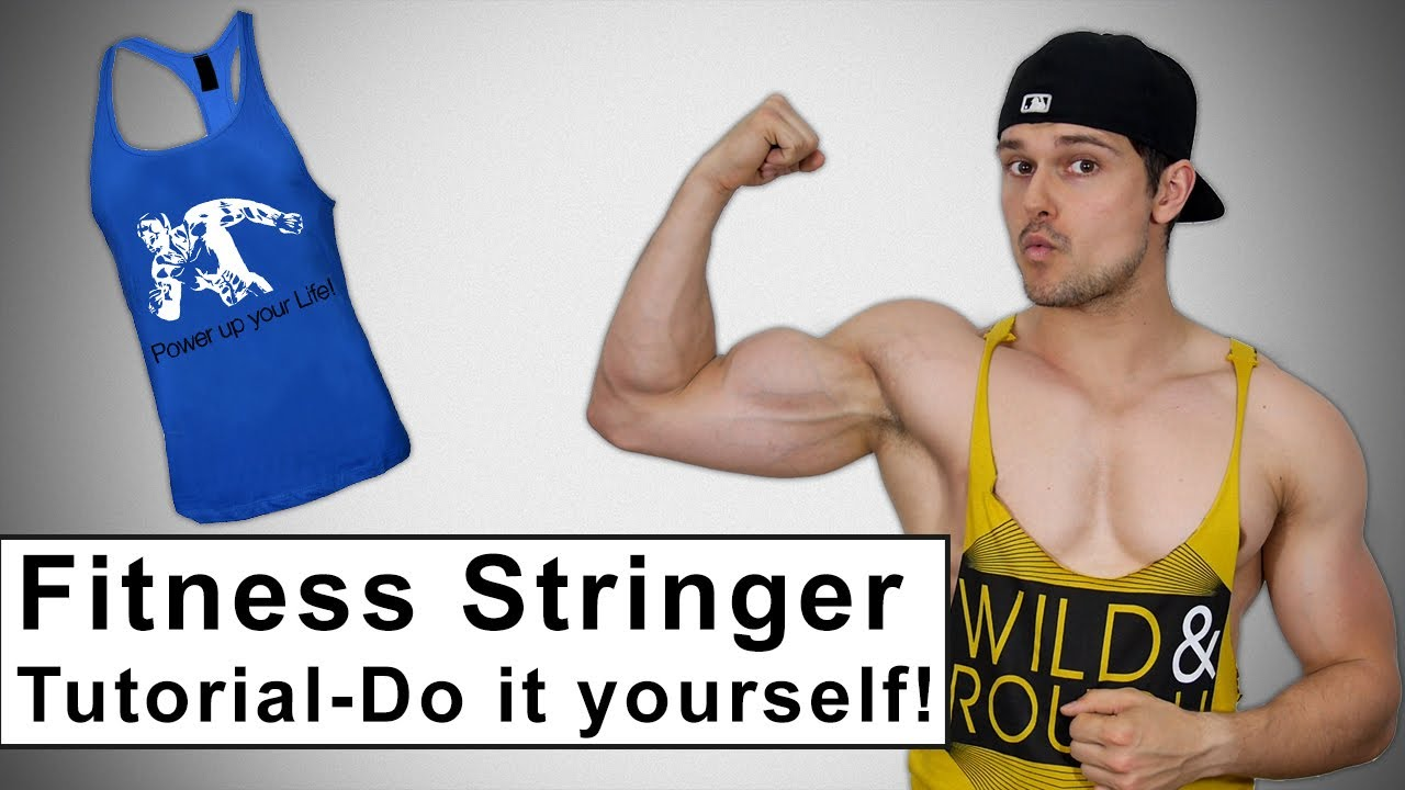 Fitness Stringer Tank Top Selber Basteln Tutorial Diy Fashion Youtube