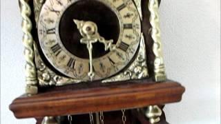 Beautiful Old Burl Wood Dutch 1 Day Zaanse Wall Clock For Sale On Ebay Uk.