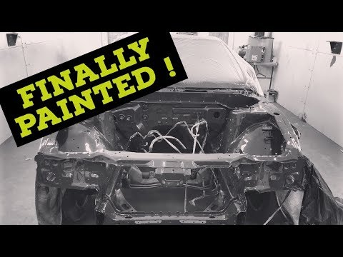 240sx gets the engine bay painted ! Ep.2