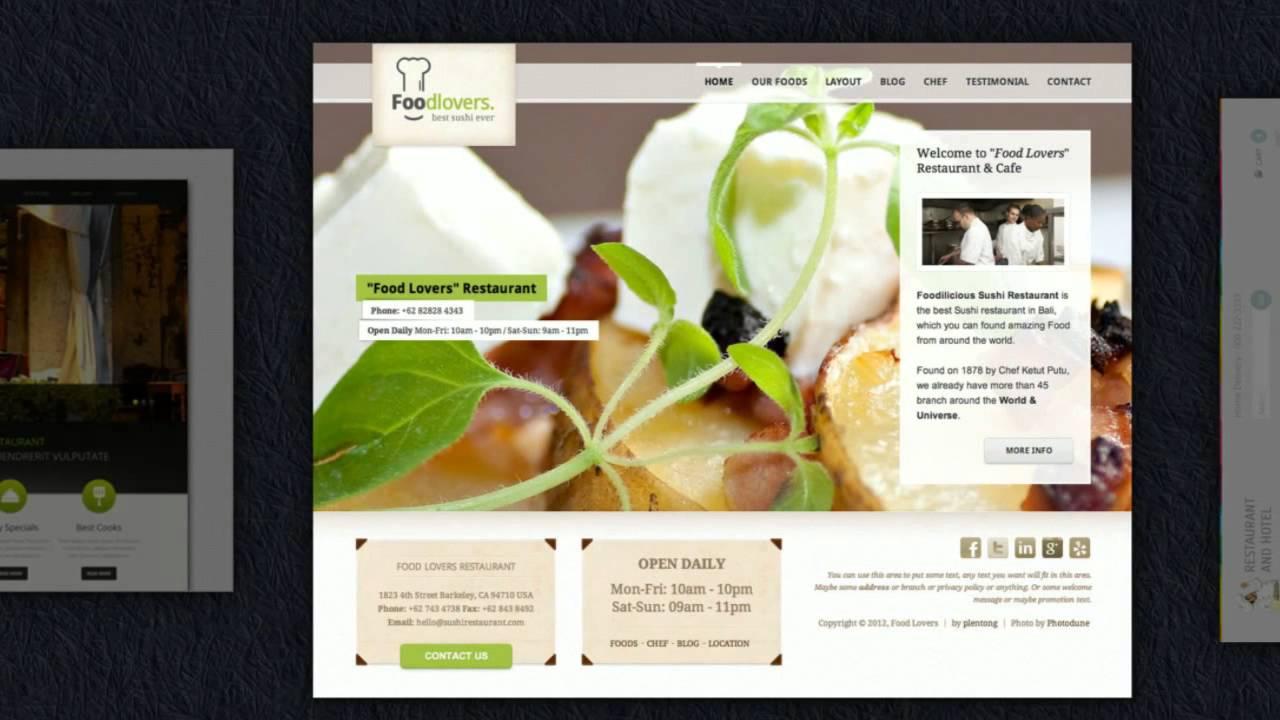 Restaurant Homepage Vorlagen - Restaurant Werbung und Gastronomie ...