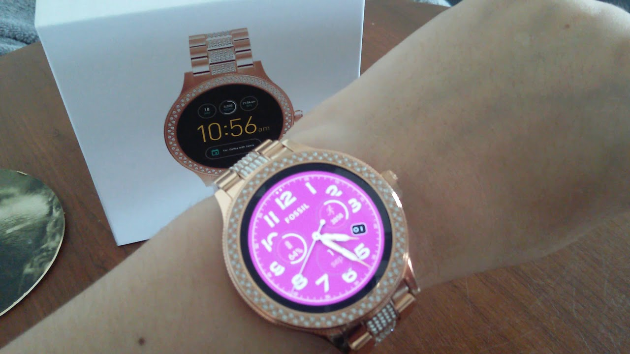 56e5e451531b Fossil Q venture rose gold - YouTube