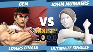 Xeno 204 Losers Finals - Gen (Ryu) Vs. John Numbers (Wii Fit) Smash Ultimate - SSBU