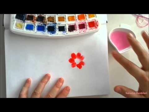 Sulu Boya Parmak Baski Sanatin Renkleri Sulu Boya Youtube
