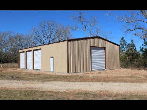 The construction of our 40'x60' metal building - completed