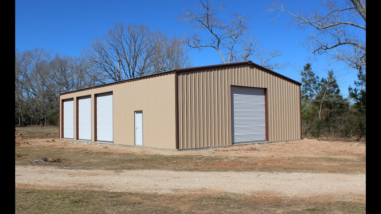 The construction of our 40'x60' metal building - completed - YouTube