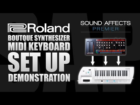 Using a MIDI Keyboard with Roland Boutique Synthesizer Modules (JX-03)