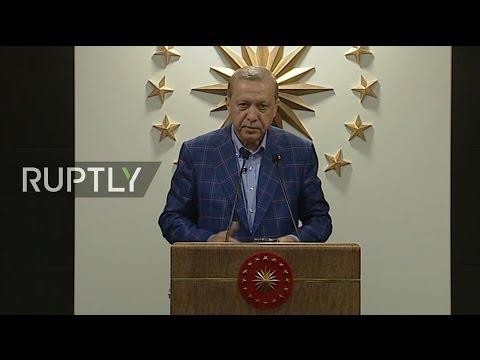 LIVE: Turkish President Erdogan speaks after announcement of referendum results