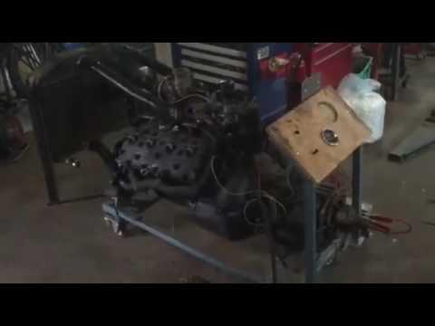 Testrun Ford V8 Flathead engine. Stock 1937