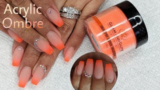Acrylic Ombre - Glam & Glitz - Watch me Do My Nails