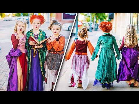 Sisters Dress as 'Hocus Pocus' Witches in Annual Trio-Themed Costume