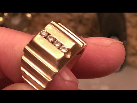 Metal Detecting  ! Triple GOLD & DIAMONDS ! : ) Triple Gold Treasure Hunt ! : )