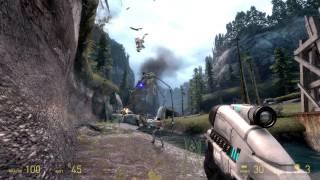 Mass Effect 3 reaper sounds on HL2 strider - Test 1