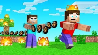 MINECRAFT But TOUCH = FIREBALLS ACTIVATED!
