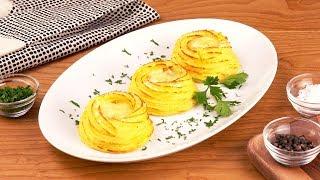 Kartoffel Püree oder Brei mal ganz anders - als gefülltes Nest - Rezept für eine Hauptmahlzeit