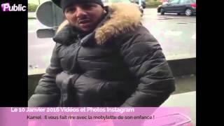 Exclu vidéo : Kamel : Il fait rire ses followers avec la mobylette de son enfance !