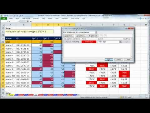 Excel for Accounting and Finance - Northwest Accounting Educators Conference 2012 - NAE  2012