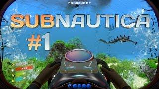 Subnautica #1 Planeador, cuchillo, batería y bombona de aire