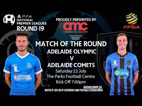 Playstation 4 NPLSA Round 19 Adelaide Olympic vs Adelaide Comets