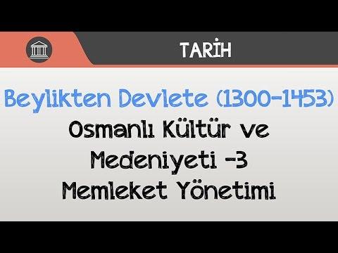 Beylikten Devlete (1300-1453) - Osmanlı Kültür ve Medeniyeti -3 / Memleket Yönetimi