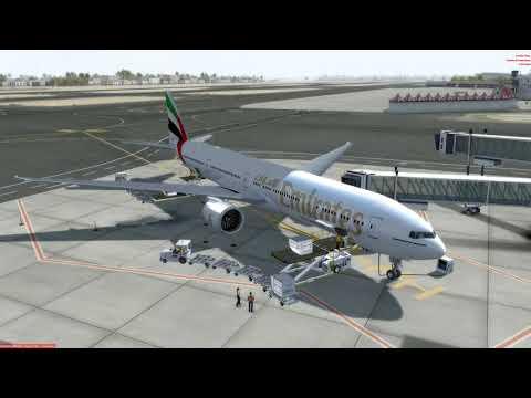 P3D   PMDG 777   Dubai to Auckland   longest flight   PART 1 Departure