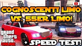 GTA 5 Online - Cognoscenti Limo VS. 55er Limo + Speed Test! [Executives And Other Criminals Update]