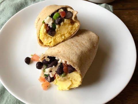 Make-Ahead Black Bean And Scrambled Egg Breakfast Burritos | Live