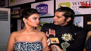 Rocky and Shesha aka Adaa Khan and KaranVir Bohra at Gold Awards