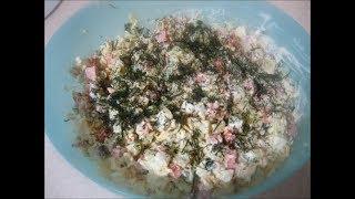 Рецепт быстрого и вкусного салата/Quick salad