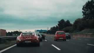 bmw i8 high speed chase of 2x mercedes amg gt s