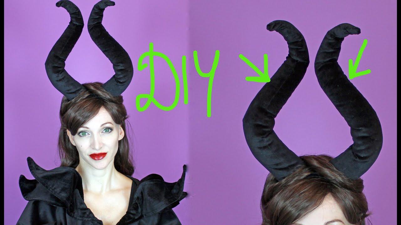 Diy Maleficent Horner 2 Variationen Halloween 2015 2