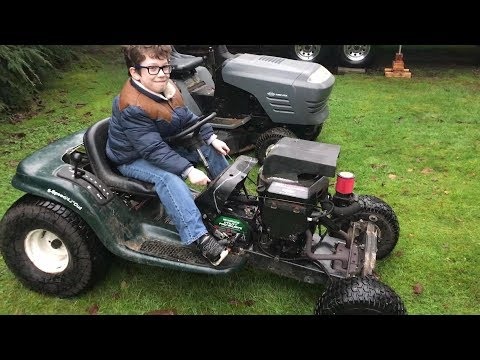 Rat Rod Lawn Mower (Quick build and test drive)