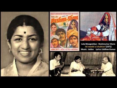 Lata Mangeshkar - Reshma Aur Shera (1971) - 'ek meethi si chubhan'