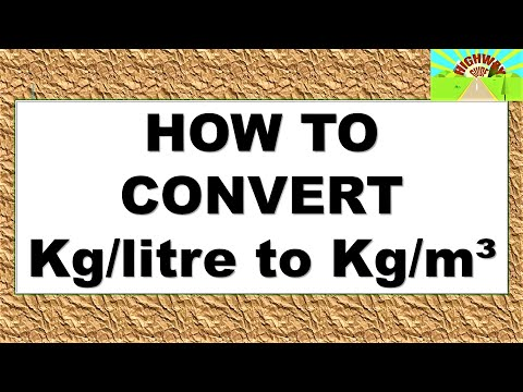how to convert kg liter to kg m youtube. Black Bedroom Furniture Sets. Home Design Ideas