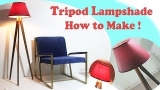 Tripod Lampshade (wooden)  ! How to make DIY