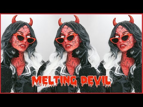 MELTING DEVIL HALLOWEEN MAKEUP TUTORIAL thumbnail