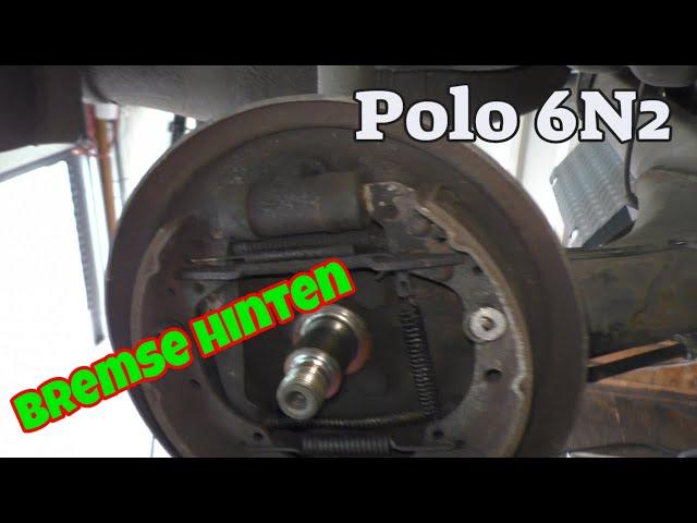 Bremse hinten - Trommelbremse reparieren - Polo 6N