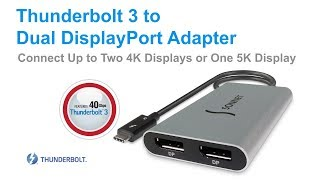 Sonnet Thunderbolt 3 to Dual DisplayPort Adapter Quick Overview Video