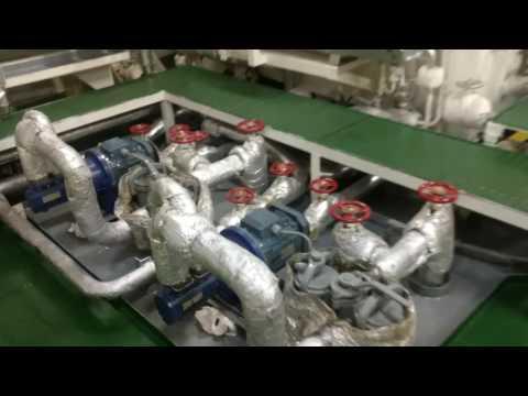 Ship Chemical tanker engine room