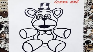 Como dibujar a freddy peluche | how to draw freddy