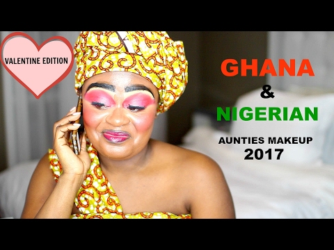 GHANA & NIGERIAN AUNTIES MAKEUP PART 2 | WORST MAKEUP EVER 2017 | VALENTINE EDITION | JENEEVALOVE