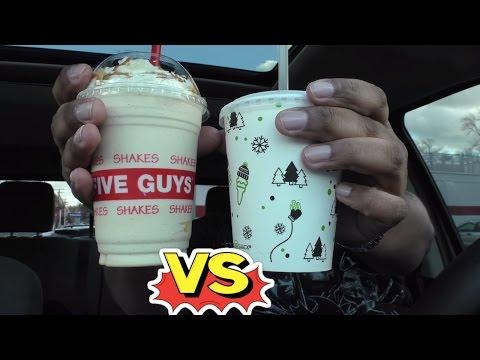 Five Guys Milkshake VS Shake Shack Milkshake
