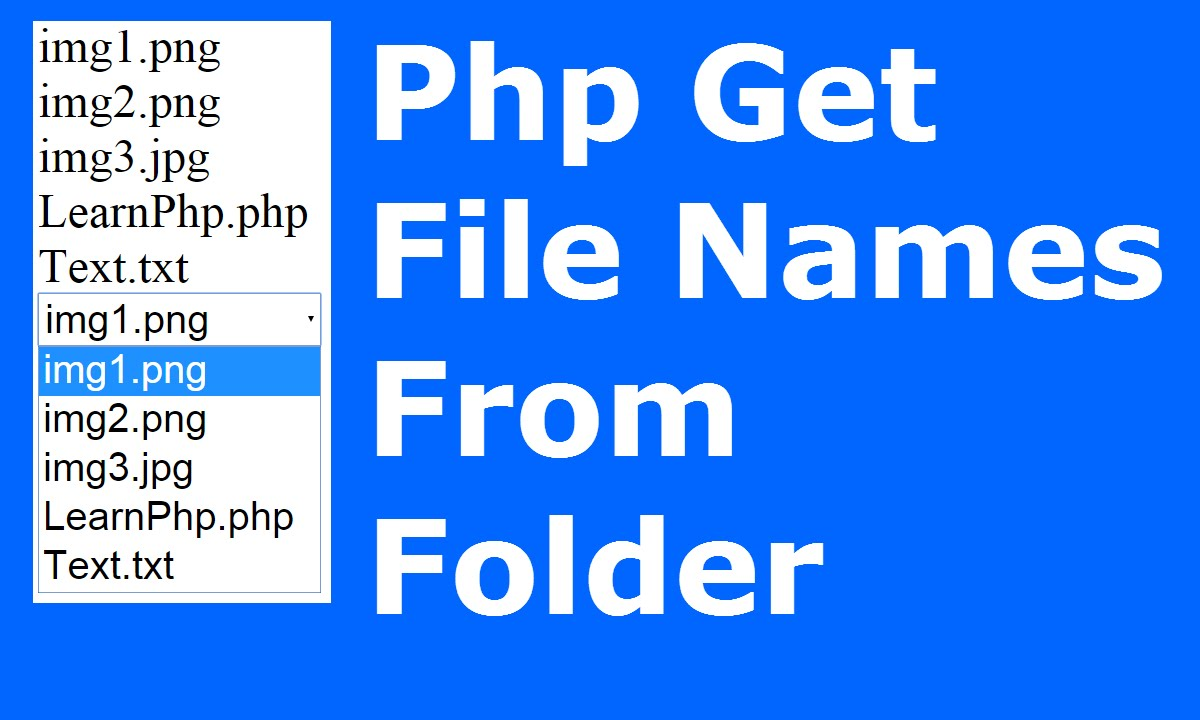 Php : How To Get / Show Files Names From Folder Using Php [ with source code ]