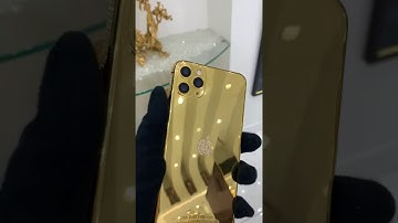 24k Gold iPhone 11 Pro | Diamonds | Swarovski | Goldgenie | Video