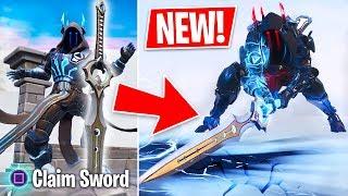 New 'Infinity Blade' Legendary Sword Weapon Update! (Fortnite Live Gameplay)