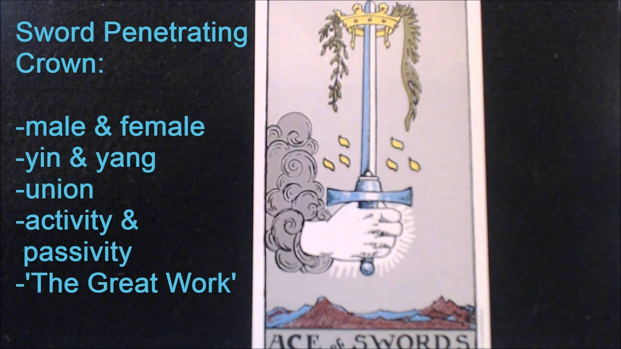 Ace Of Swords Symbols Of The Rider Waite Smith Tarot By Abheda