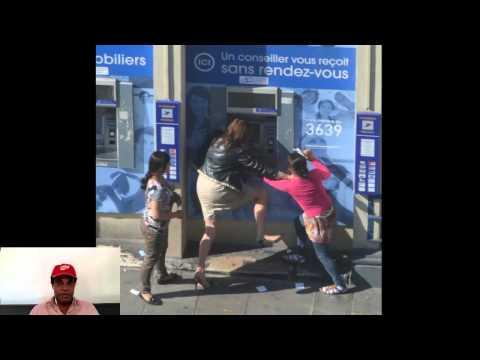 Deux roms attaquent une femme à un distributeur